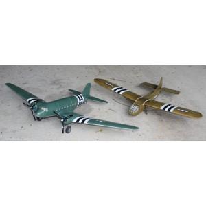 C-47 and WACO glider